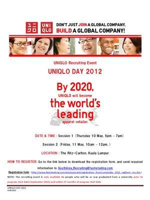 Uniqlo Recruiting Event The University Of Nottingham Malaysia