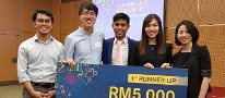 Current student won the 1st runner up in economics competition