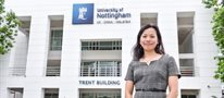 Woman wildlife scientist at University of Nottingham Malaysia